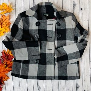 JCrew Buffalo Check Peacoat